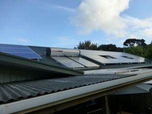 Solar Panels at Aroha Island